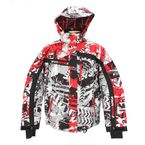 Gray/Red Sabotage Squadron Jacket - 14107