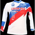 Youth White/Red/Blue GP Air Astro Jersey - 0735-1106