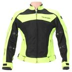 Womens Hi-Vis Yellow/Black High Temp Mesh Jacket  - 6055-0113-77