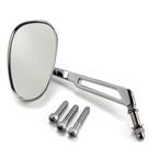 Chrome Mini-Oval Billet Mirror W/ 7
