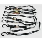 Black 1 in. Heavy-Duty Quad Pack Tie-Downs - 3920-0300