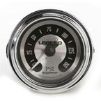 Lighted Spun Aluminum LED Air Pressure Gauge - 2212-0492