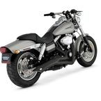 Black Big Radius 2-into-1 Exhaust System - 48003