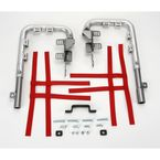 Fat Series 1-1/2 in. Alloy Nerf Bars w/Red Webbing  - 602-2115