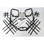 Black Nerf Bars w/Net Heel Guards - Y063078BL