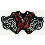 Rhinestone Butterfly Helmet Patch - 61482