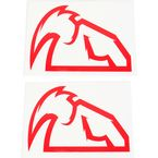 Red Outline Mask Diecut Decals - 4320-1519