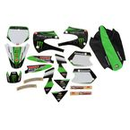 2014 Team Green Graphics Kit w/Black Number Plate Background - N40-3718