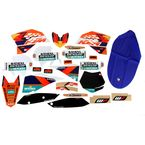 2014 Factory KTM Graphics Kit w/Black Number Plate Background - N40-5681