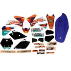 2014 Factory KTM Graphics Kit w/Black Number Plate Background - N40-5683