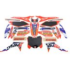 Troy Lee Designs Mav TV Graphics Kit w/Black Number Plate Background - N40-1709
