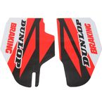 Red/Black/White Lower Fork Protectors - N10-139