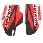 Red/Black/White Lower Fork Protectors - N10-140