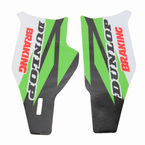 Green/Black/White/Red Lower Fork Protectors - N10-146