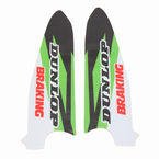 Green/Black/White/Red Lower Fork Protectors - N10-148