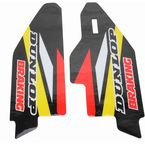 Yellow/Black/White/Red Lower Fork Protectors - N10-150