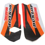 Orange/Black/White/Red Lower Fork Protectors - N10-155