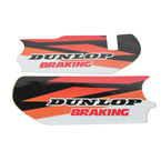 Orange/Black/White/Red Lower Fork Protectors - N10-156