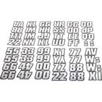 2 in. Series 500 Chrome/Black Number/Letter Kit - CHBLK500