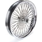 Chrome 23 x 3.75 Radial Laced 50-Spoke Wheel Assembly for Dual Disc - 02030561