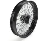 21 in. x 3.5 in. Black 80-Spoke Front Wheel Assembly w/Round Spokes - 16-121