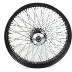 21 in. x 3.5 in. Black 80-Spoke Front Wheel Assembly w/Twisted Spokes - 16-122