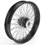 21 in. x 3.25 in. Black 80-Spoke Front Wheel Assembly w/Round Spokes - 16-123