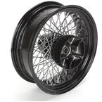 16 in. x 5.00 in. Black 80-Spoke Rear Wheel Assembly w/Round Spokes - 06-116
