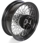 16 in. x 5.5  in. Black 80-Spoke Rear Wheel Assembly w/Twisted Spokes - 06-117