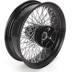 18 in. x 5.00 in. Black 80-Spoke Rear Wheel Assembly w/Round Spokes - 06-118