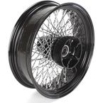 18 in. x 5.5 in. Black 80-Spoke Rear Wheel Assembly w/Twisted Spokes - 06-119