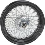 16 in. x 3.50 in. Black 80-Spoke Rear Wheel Assembly w/Twisted Spokes - 16-126