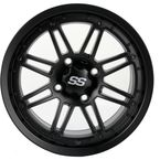 Matte Black 14 in. X 7 in. SS216 Alloy Black Ops Wheel - 1428540536B