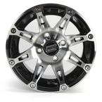 Front/Rear Machined w/Black 12x7 387 X Wheel - 0230-0755
