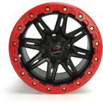 Front Black/Red Five-Fifty One - 551 14x7 Wheel - 551-147110MBR4