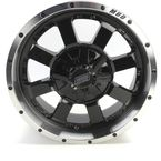 Machined Black 17 x 7  Front/Rear 420 X Wheel - 0230-0848