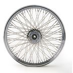 Chrome 21 x 2.15 80-Spoke Laced Wheel Assembly for Single or Dual Disc - 02030041