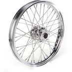 Chrome 21 x 2.15 40-Spoke Laced Wheel Assembly for Single Disc - 0203-0084