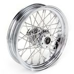 Chrome 16 x 3.5 40-Spoke Laced Wheel Assembly  - 0204-0059