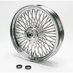 Chrome 16 x 3.5 Fat Daddy 50-Spoke Radially Laced Wheel for Dual Disc - 02030245