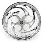 Chrome 21 x 3.5 Savage One-Piece Wheel for Dual Disc w/o ABS - 21350-9031-85C