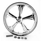 Chrome 21 x 3.5 Wrath One-Piece Wheel - 1214-7106R-WRA