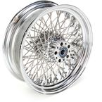 Chrome 16 x 5.5 80-Spoke Laced Wheel Assembly - 02040341