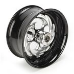 Black 18 x 8.5 Savage Eclipse One-Piece Wheel for Models w/240mm Wide Drive Swingarm - 18850-9958-85E