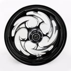 Black 17 x 6.25 Savage Eclipse One-Piece Wheel - 17625-9209-85E