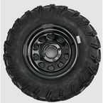 Rear Left Mud Lite AT 25x10-12 Tire w/Black Delta Steel Wheel  - 44831L