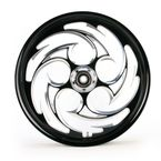 Black 21 x 2.15 Savage Eclipse One-Piece Wheel  - 212159047-85E