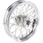 Chrome Rear 16 x 3.5 40-Spoke Laced Wheel Assembly Non ABS - 0204-0358