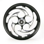 Front Black 21 x 2.15 Savage Eclipse Forged Wheel - 21215-9009-85E