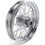 Chrome Front 16 x 3 40-Spoke Laced Wheel Assembly - 0203-0408